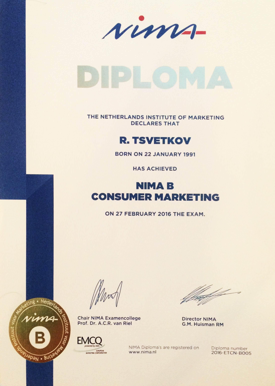 Директор по маркетингу Международная программа nima b С дипломом nima можно работать не только в европейских но и в крупных международных компаниях таких как google